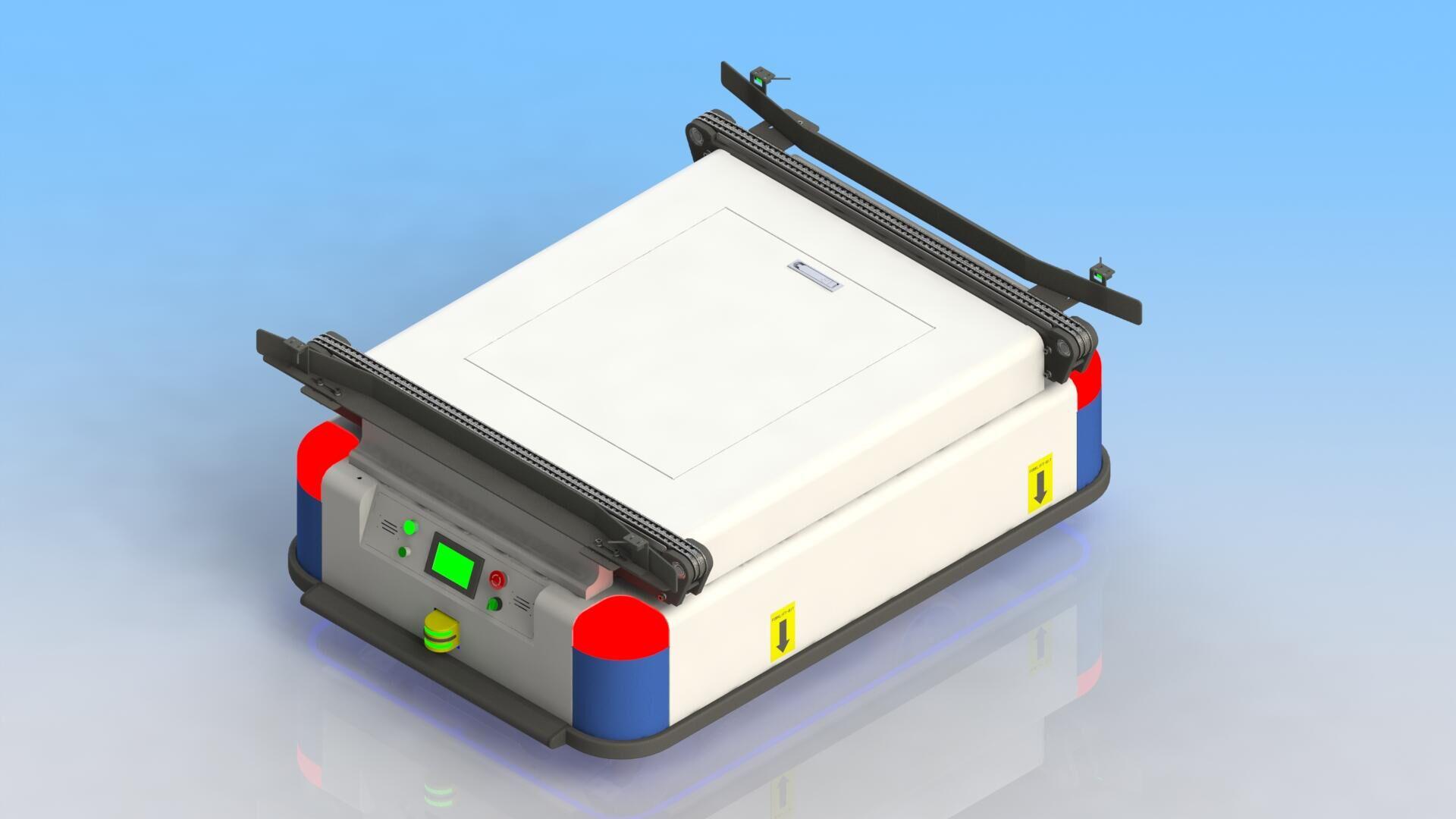 磁导-移载式AGV